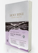 KJV Gift and Award Bible:  White, Imitation Leather