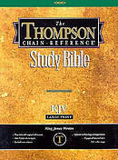 KJV Thompson Chain Reference Large Print Burgundy Bonded Leather