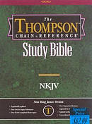 NKJV Thompson Chain Reference Study Bible: Burgundy, Thumb Index