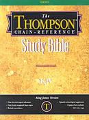 KJV Thompson Chain Reference Bible: Black, Imitation Leather, Regular Size, Thumb Indexed