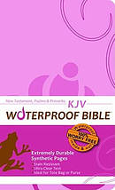 KJV Waterproof Bible Pink New Testament Psalms Proverbs
