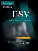 ESV Clarion Reference Bible Split-Calfskin Leather Black