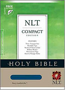 NLT Compact Bible: Navy, LeatherLike