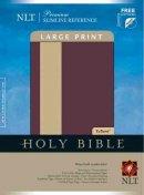 NLT Slimline Bible: Wine and Beige, LeatherLike, Large Print
