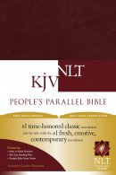 KJV / NLT People's Parallel Bible Burgundy Imitation Leather