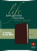 NLT Life Application Bible: Burgundy, Bonded Leather, Large Print