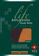 NLT Personal Size Life Application Study Bible: Brown & Tan, Leatherlike