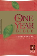 NLT One Year Large Print Bible: Paperback