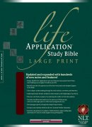 NLT Life Application Bible: Burgundy, Bonded Leather, Thumb Index, Large Print