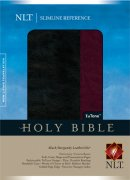 NLT Slimline Reference Bible: Black and Burgundy, LeatherLike