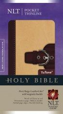 NLT Pocket Thinline Bible: Port & Beige, Imitation Leather