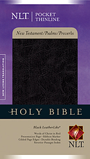 NLT Pocket Thinline New Testament with Psalms and Proverbs: Black, Imitation Leather