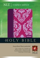 NLT Compact Bible: Fuchsia Floral, LeatherLike