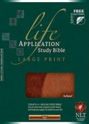 NLT Life Application Study Bible: Brown/Tan, Imitation Leather, Large Print,