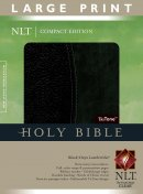 NLT Compact Bible: Black/Onyx, Imitation Leather, Large Print