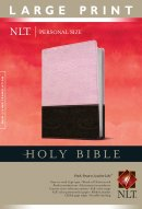 NLT Personal Size Bible Large Print - Pink Imitation Leather