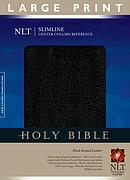 NLT Slimline Reference Bible: Black, Bonded Leather