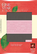 NLT One Year Slimline Bible Tutone Pink / Grey