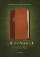 Living Bible: Brown, Leather-Like