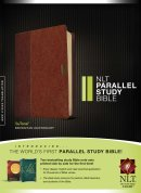 NLT Parallel Study Bible; Tan Tutone Leatherlike, Thumb Index
