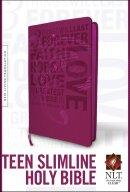 NLT Teen Slimline Bible Imitation Leather Hot Pink