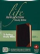 NLT Life Application Study Bible Leatherlike Black/Brown