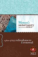 NLT Womens Sanctuary Devotional Bible: Paperback