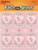 Embossed God Loves You Stickers