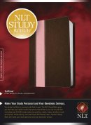 NLT Study Large Print Bible: Pink/Brown, Imitation Leather