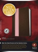 NLT Study Large Print Bible: Pink/Brown, Imitation Leather, Thumb Indexed