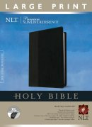 NLT Premium Slimline Reference Bible: Large Print, Black, Imitation Leather, Thumb Indexed
