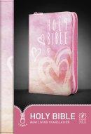 NLT Pink Hearts Zip Bible