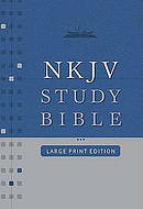 NKJV Study Bible: Black, Bonded Leather, Large Print, Thumb Index