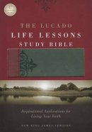 The NKJV Lucado Life Lessons Study Bible - Burgundy & Grey