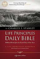NASB Charles F. Stanley Life Principles Daily Bible Hardback