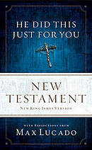 NKJV He Did This Just for You New Testament Paperback
