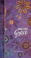 2019/2020 2 Year Pocket Planner: Amazing Grace (Purple with Orange Flowers)