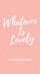2019/2020 2 Year Pocket Planner: Whatever is Lovely (Pink/White Dots)