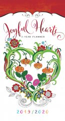 2019/2020 2 Year Pocket Planner: Joyful Hearts