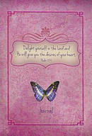Psalm 37:4/Butterfly (Pink) Hardcover Journal