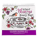 A Cup of  Blessings for Every Day - Colouring In Calendar 2017