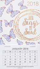 Butterflies Mini Magnetic Calendar 2018