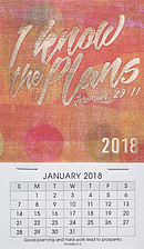 I Know the Plans Mini Magnetic Calendar 2018