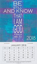 Be Still Mini Magnetic Calendar 2018