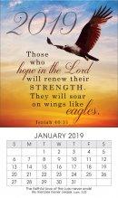 Soar on Eagles Wings 2019 Mini Magnetic Calendar