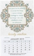 Serenity Prayer 2019 Mini Magnetic Calendar