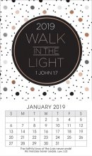 Walk in the Light 2019 Mini Magnetic Calendar