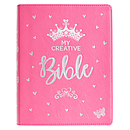 My Creative Bible for Girls, Journaling Bible -ESV - Bright Pink Leather Cover