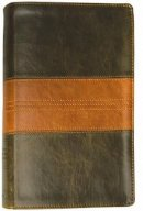 ESV Personal Size Reference Bible: Tru Tone, Forest & Tan Trail Design