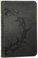 ESV Compact Bible: Charcoal, Crown Design, TruTone